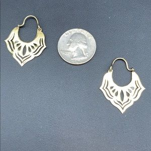 Gold over Silver 1.5 inches Vintage Earrings $60
